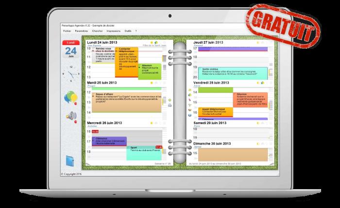PersoApps Agenda - Logiciel de gestion d'agenda gratuit